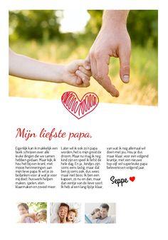 Online kranten maken met Happiedays voor vaderdag