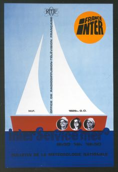 France Inter, 1970 Dessin de Gérard Lussault Crédit : ORTF / Radio France