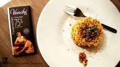 Millefoglie di risotto alle noci e cioccolato fondente…light