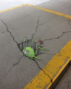 David Zinn chalk street art