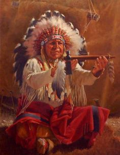 The Smoking of the Sacred Peace Pipe.
