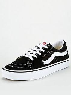 Vans Sk8 Low, Men's Vans, Van Shoes, Plimsolls, Canvas Leather, Kicks, Black And White, Heels, Sneakers
