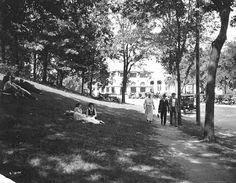 Pavilion and Como Park grounds, St. Paul, 1924. Format: negative