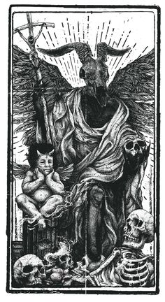 Rotten Tarot by Willemann Art & Balaclava Studio #illustration #drawing #tarot
