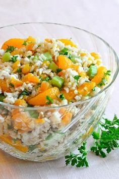 Orange Rice Salad, fruity tasty salad that is easy to make, fun to serve, great side dish or yummy on its own!