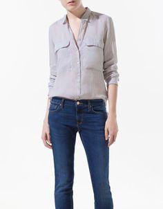 shirt with patch pocket #zara $60