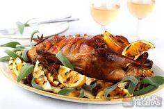 Receita de Pato assado com molho de laranja em receitas de aves, veja essa e outras receitas aqui!
