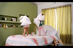 """Pillow Fighting Girls"",Come check out Mr.Smart's Smart Discovery! Add yours at ""Smart Discovery""  http://www.lgsmartchoice.com"