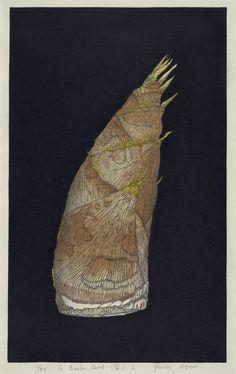 TITLEA Bamboo Shoot I  ARTISTYuichi Asano  YEAR2004  PROCESSWoodblock  SIZE43x25cm