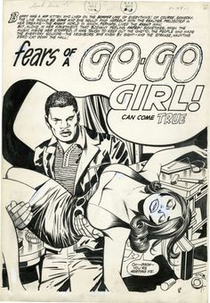 thebristolboard:Happy Kirby Day! Heres a rarity: complete... thebristolboard:  Happy Kirby Day! Heres a rarity: complete original art for Fears of a Go-Go Girl by Jack Kirby (story and pencils) and Vince Colletta (inks). The story was originally slated to appear inSoul Love #1 a proposed romance comic for African-American adults that was cancelled before it was published in 1971.  Happy 100th birthday to the King of Comics!