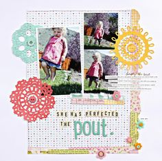 I just love the style of Dear Lizzy, I want to make a scrapbook of Taylie's in the same style. So cute.