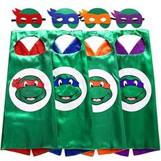 Starkma Superhero Tmnt Cartoon Costume 4 Thermal Pransfer Satin Cape with Felt Mask *** Would like to know much more, click the photo. (This is an affiliate link). Up Halloween Costumes, Cartoon Costumes, Halloween Costume Accessories, Adult Costumes, Children Costumes, Group Costumes, Christmas Costumes, Superhero Fancy Dress, Superhero Capes