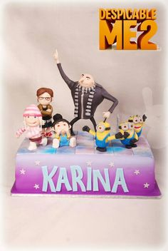 Despicable Me 2 Birthday Cake ♡ ♡ ♡