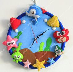 Nonwoven DIY Material Package-Happy Sea Wall Clock