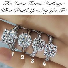 i would say yes to number 1,i love a big ring,the bigger the better.<3