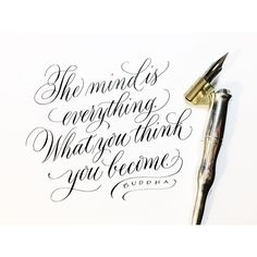 Buddha is the bomb, and it's time for a mindset reboot. . #calligraphy #moderncalligraphy #calligraphyquote #buddha #buddhaquotes