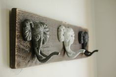 Moose Hooks Rustic Wall Decor for your home by SplintersAndNails