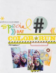 Inspiration couleur de Mélanie, de l'équipe créative Kesi'art, pour sa page spéciale #ColorRun.