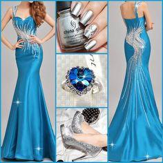 Blue night dress