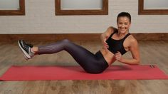 5 Minutes to a Flat Belly With No Crunches! We are so over crunches! So work your abs with these belly-flattening alternatives. This five-minute workout is loaded with seriously effective moves, Fitness Workouts, Sport Fitness, Yoga Fitness, At Home Workouts, Fitness Motivation, Video Fitness, Fitness Diet, Flat Abs Workout, 5 Min Ab Workout