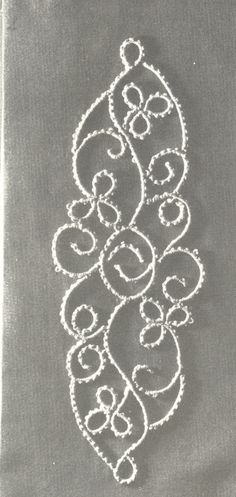 """This is called """"Climbing Plant"""" and is an example of the node stitch in Tatting Techniques by Elgiva Nicholls. Now this is not Tatting Technique and History by Elgiva...it's a different book, not as commonly found. ISBN: 0 263 05907 3"""