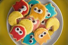 pac-man cookies  galletas de pacman  galetes de pac man