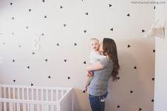 Vinyl Wall Sticker Decal Art - Mini Triangles
