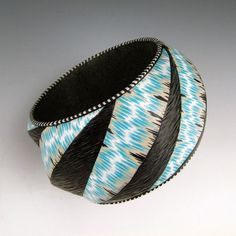 """Lisa Pavelka - """"Woven Waves"""" Geo Bangle (Second Place Tie - Judges, Third Place - Members Choice)"""