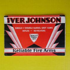 1934 Iver Johnson Vintage Firearms Catalog Shot Guns Rifles Revolvers Original #IverJohnsonArmsCycleWorks