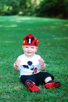 Mickey Mouse birthday crown WITH NUMBER, birthday hat, mickey mouse costume, First birthday party on Etsy, $17.00