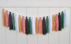 Yarn Tassel Garland tutorial