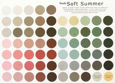 Sunlit Soft Summer : sunny cool colors snuffed                              …
