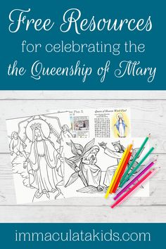Celebrate the Feast of the Crowning of Mary ~ 7 Free & Fun Resources  #feastdays #marianfeastdays #liturgicalcalendar #queenofheaven #mary #coloringpages #raisingcatholics #youngcatholics #queenshipofmary #crowningofmary Catholic Icing, Prayers To Mary, Printable Prayers, Liturgical Seasons, Rejoice And Be Glad, Queen Of Heaven, Beautiful Prayers, Praying To God, Blessed Virgin Mary
