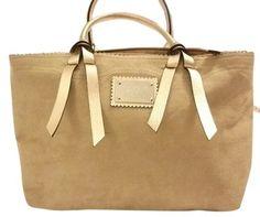Victoria s Secret Tan suede gold Trim Tan gold Tote Bag. Get one 5946e37edf