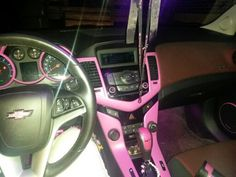 Plastidip interior in 2011 chevy cruze...I would love this more if it was camo!!!