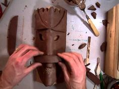 Creating an African Style Mask with Clay (Part 2/7).MOV (on youtube, how we made them tutorial)