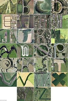 Google earth Typographic typology #typography #typology #aerial #earth