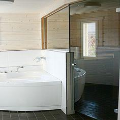 lasiseinä sauna - Google-haku Corner Bathtub, Bathroom, Google, Washroom, Full Bath, Bath, Bathrooms, Corner Tub