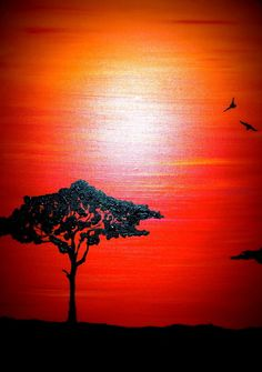i wanna see a tree like this Colorful Pictures, Art Pictures, Types Of Painting, Fabric Painting, African Paintings, Summer Painting, Africa Art, African American Art, Wildlife Art