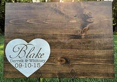 Personalized Rustic Wood Guestbook, Wedding Guestbook, Guestbook Alternative