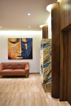 The old villa in the heart of the city, was entrusted to us to adorn a facelift.The project centered on the client's requirement of growing and. Tv Unit Furniture, Paint Storage, Puja Room, Distressed Painting, Lounge Areas, Living Area, Facade, Architects, Contemporary