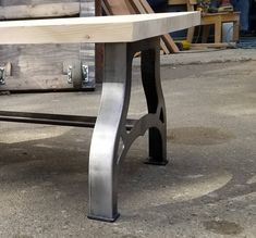 NEW PRODUCT! industrial-inspired Legs - Coffee Table or Bench by valiantcustomworks on Etsy Coffee Table Bench, Iron Coffee Table, Iron Table, Metal Table Legs, Bench Legs, Industrial Style Coffee Table, Floating Shelf Brackets, Barn Door Handles, Steel Sheet