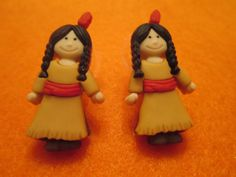 Free shipping children's earrings thanksgiving by MarysRemedies, $7.00