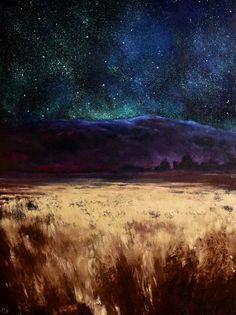 You Are Everything V, John O'Grady - A 15.75″ x 12″ x 1.5″ oil on deep edged beech panel, $515. On a beautiful clear night on the Irish bogland, bog grasses catch the starlight while we notice the gorgeous violet-blue glow of the mountains under the celestial vault. It's a quiet moment for contemplation.