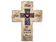 Faith Factory Treasures » FAITH – HOPE – LOVE Wall Cross