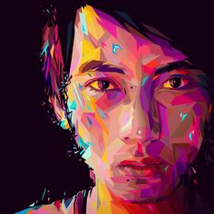 Self portrait in my first VCI (Vibrant Colour Illustration) lol - I think it's…