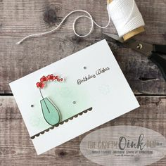 Varied Vases Bundle Note Card Wallet Class with Quick and Simple cards by Mikaela Titheridge, #6UK Independent Stampin' Up! Demonstrator, The Crafty oINK Pen. Supplies available through my online store 24/7