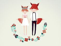 Alex and Luiza designed by Monika Traikov. Connect with them on Dribbble; the global community for designers and creative professionals. Fox Character, Creative, Design, To Draw