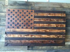 American Rustic Natural Wood Stained Large Slider