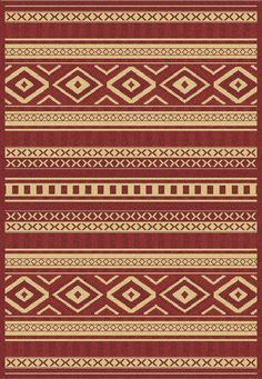 Dynamic Rugs Piazza Red Global Rectangle Area Rug